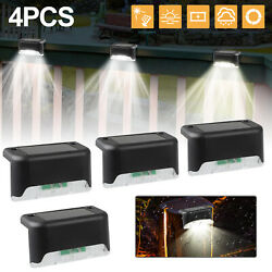 4 Solar LED Bright Deck Lights Outdoor Garden Patio Railing Decks Path Lighting