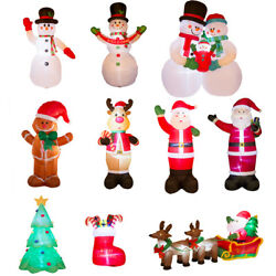 Glitzhome 14Styles Snowman Santa LED Lighted Christmas Inflatables Outdoor Decor
