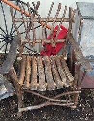 Natural Handmade Chair Made Of Real Wood Twigs Logs Local PA Pick Up