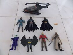 DC Action Figures Mixed Lot of Batman Action Figures and Batman Helicopter $22.99