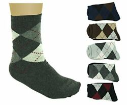 7 Comets Merino Wool Men Socks - Thin Diamonds with Lines - Pack of 5