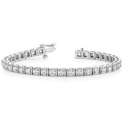 2.50 CT MOISSANITE ROUND FOREVER ONE ILLUSION TENNIS BRACELET