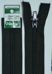 Vizzy Open End Zip 30cm 02 BLACK A Quality Brand Name Zipper