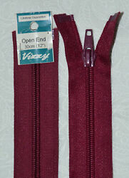 Vizzy Open End Zip 30cm 34 BURGUNDY A Quality Brand Name Zipper