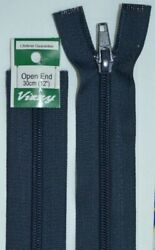Vizzy Open End Zip 30cm 59 NAVY A Quality Brand Name Zipper