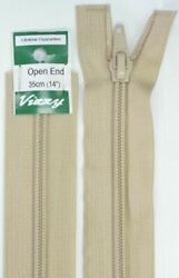 Vizzy Open End Zip 35cm 07 NATURAL A Quality Brand Name Zipper