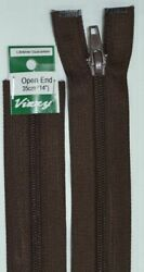 Vizzy Open End Zip 35cm 14 BROWN A Quality Brand Name Zipper