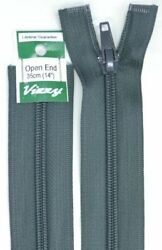 Vizzy Open End Zip 35cm Colour 63 CHARCOAL A Quality Brand Name Zipper