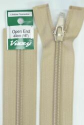 Vizzy Open End Zip 40cm Colour 07 NATURAL A Quality Brand Name Zipper