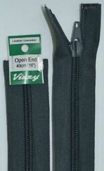 Vizzy Open End Zip 40cm Colour 63 CHARCOAL A Quality Brand Name Zipper