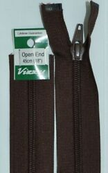Vizzy Open End Zip 45cm Colour 14 BROWN A Quality Brand Name Zipper