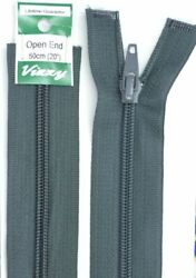 Vizzy Open End Zip 50cm Colour 63 CHARCOAL A Quality Brand Name Zipper