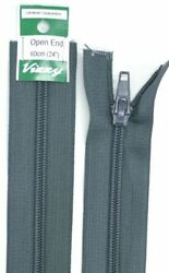 Vizzy Open End Zip 60cm Colour CHARCOAL A Quality Brand Name Zipper