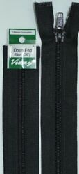 Vizzy Open End Zip 65cm Colour 02 BLACK A Quality Brand Name Zipper
