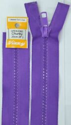 Vizzy Chunky Open End Zip 20cm Colour 109 PURPLE A Quality Brand Name Zipper
