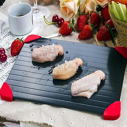 Aluminum Plate Fast Defrosting Tray Thaw Defrost Meat or Frozen Food Cooking USA