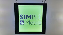 Simple Mobile signdouble-sidedHanging sign led light box 12''x12''