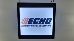Echo Outdoor power Equipment Signs. Hanging signdouble-sided led light
