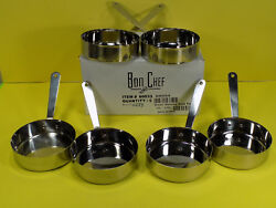 6 Bon Chef #60033 Small Stainless Steel Single Serving Side Pan Heavy Duty