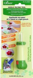 Clover Felting Needle Tool Wool Craft Project Easy Fabric Punch Safety 5 Barbed