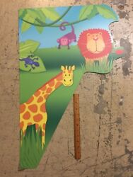 Lion Giraffe Monkey Jungle Wall Kids Room Decoration Plastic $4.99