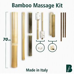 Bamboo Massage Kit Set (11 stick) TOP VERSION - Natural craft Made in Italy