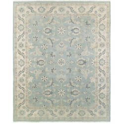 L and R Home Kareena Light Blue Wool Indoor Area Rug (12' x 15')