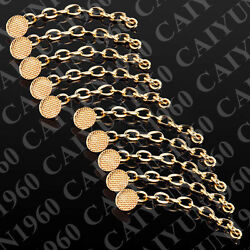 100pks Dental Ortho Golden Traction Chain Round Mesh Base Lingual Button CE