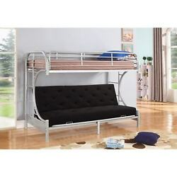 Jordan Twin C-shaped Silver Metal Futon and Bunkbed Combo By Nathaniel Home