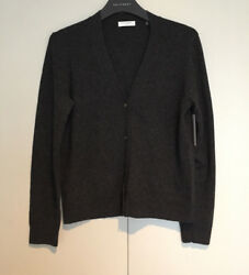 NWT EQUIPMENT 'Shelly' Cashmere Cardigan Charcoal Heather Grey Small