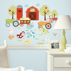 Roommates Happi Barnyard Wall Stickers Farm Wall Stickers for Kids bedrooms GBP 14.98