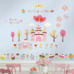 Roommates Cupcake Castle Wall Stickers Girls Bedrooms Castle Wall Stickers GBP 13.98