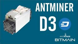 Bitmain Antminer D3 19.0 GHS- IN HAND - X11 - READY TO SHIP -