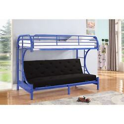 Jordan Twin C-shaped Blue Metal Futon and Bunkbed Combo By Nathaniel Home