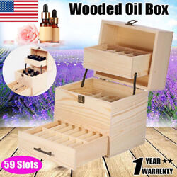 High Quality Three-layer Wooden Large Essential Oil Storage Holder Box Container