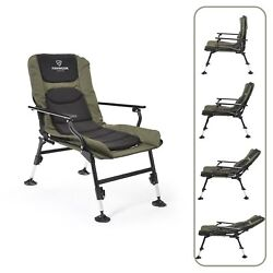 Folding Chair Furniture Adjustable Legs Outdoor Durable Fishing Camping Garden