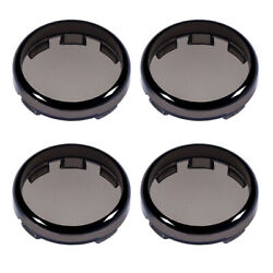 4x Plastic Smoke Turn Signal Light Lens Covers Fit for Harley Electra Glide $7.80