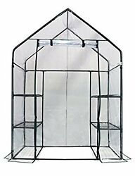 NEW! 3 Tier 6 Shelf Walk In Green House Replacement Cover Clear Color Freeship