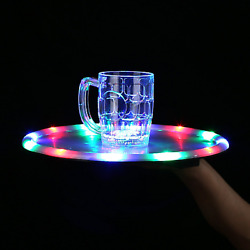 LED Light Up 14 Inch Serving Tray - Multicolor bar drink party birthday pool