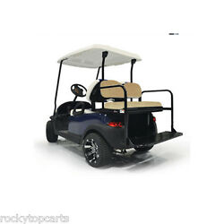 GTW Steel Club Car Precedent Golf Cart Rear Flip Seat Kit Buff - Mach1 $294.95
