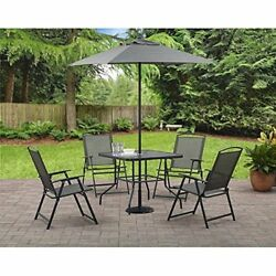 Dining Furniture Set for Garden Outdoor Folding Chairs Table Umbrella Patio NEW
