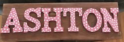 ASHTON Hand Painted Wooden Wall Letters $20.00