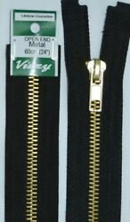 Vizzy Metal Open End Zip 60cm Colour 02 BLACK A Quality Brand Name Zipper