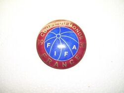Extra Rare FIFA world cup 1938 official big pin badge