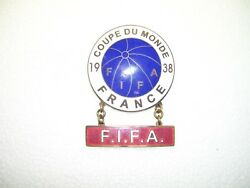 Extra Rare FIFA world cup 1938  big official pin badge