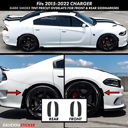15-2020 CHARGER Side Marker Front Rear SMOKE Reflector Overlay PreCut Tint Vinyl