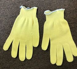 Safety Kevlar Cut Resistant Size Large Yellow Gloves volume discount $6.50