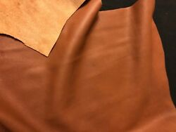 Brown BY THE PIECE Top Grain Cowhide Leather Craft Panel 2  3 oz $8.99