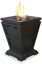 Modern Fire Pit Lp Gas Propane Outdoor Table Top Fireplace Patio Portable Decor