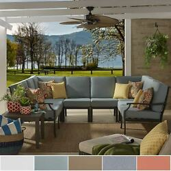 Matira Metal Modern 6 Piece 8 Seater U Shaped Outdoor Sectional by iNSPIRE Q